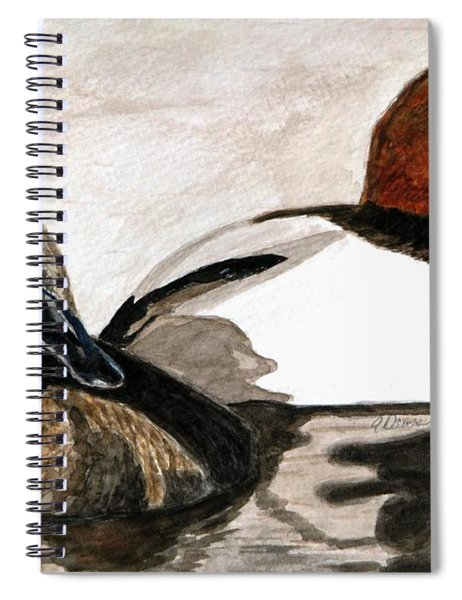 Canvasback Couple Spiral Notebook