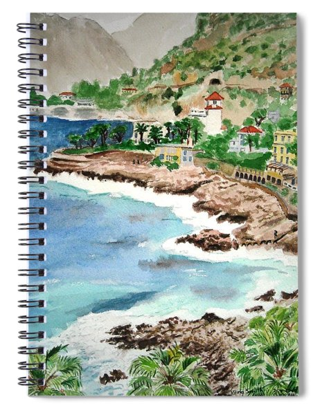 Cap D'ail On A Rainy Day Spiral Notebook