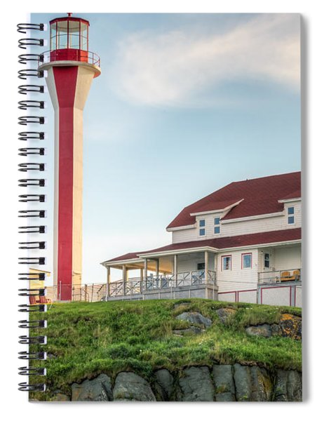 Spiral Notebook featuring the photograph Cape Forchu Lighthouse by Garvin Hunter