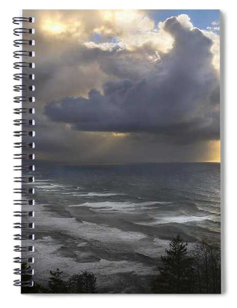 Sunset At Cape Lookout Oregon Coast Spiral Notebook