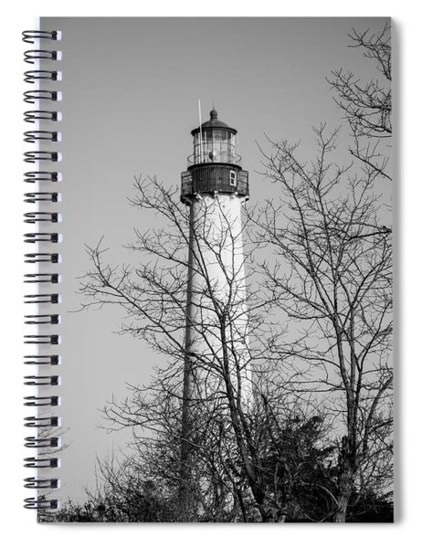 Cape May Light B/w Spiral Notebook