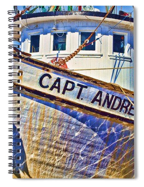 Capt Andrew Shrimper Spiral Notebook