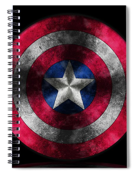Captain America Shield Spiral Notebook
