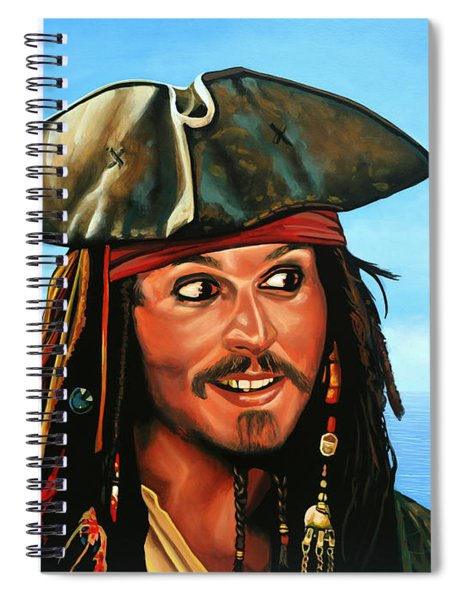 Captain Jack Sparrow Painting Spiral Notebook