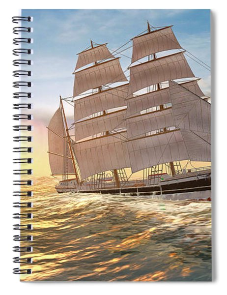 Captain Larry Paine Clippership Spiral Notebook