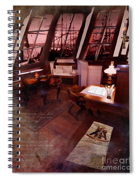 Captain's Cabin On The Dicey Spiral Notebook