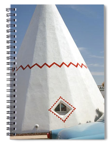 Car With A Teepee In The Background Spiral Notebook