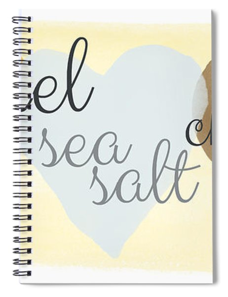 Caramel Sea Salt And Chocolate Spiral Notebook