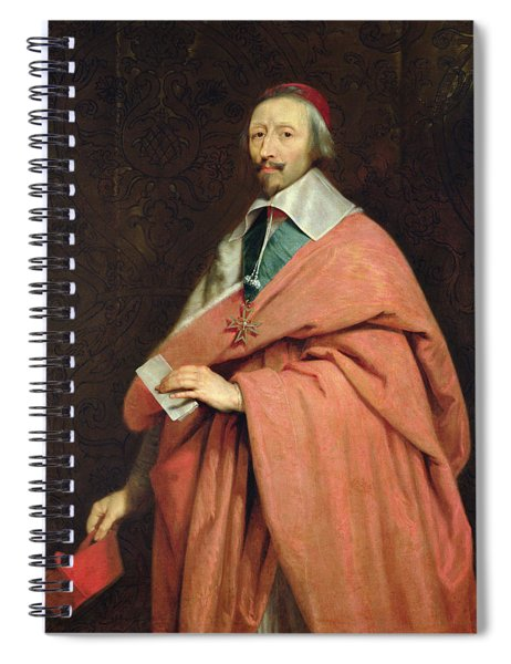 Cardinal Richelieu 1585-1642 C.1639 Oil On Canvas Spiral Notebook