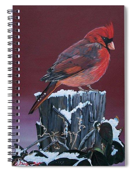 Cardinal Winter Songbird Spiral Notebook