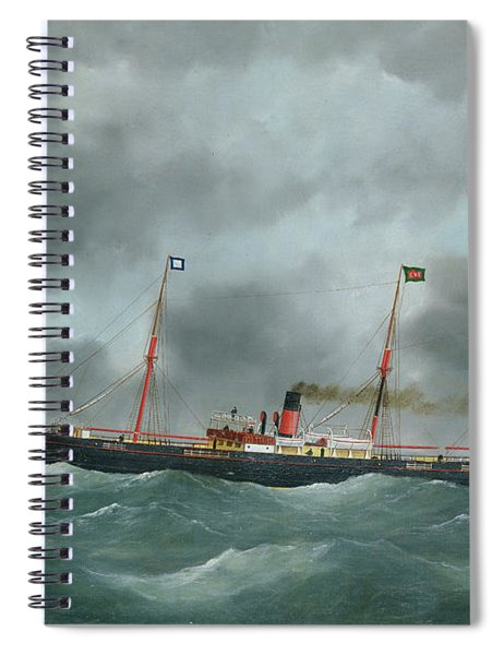 Cargo Steamship Flying The Flag Of The Le Havre Peninsular Company  Spiral Notebook