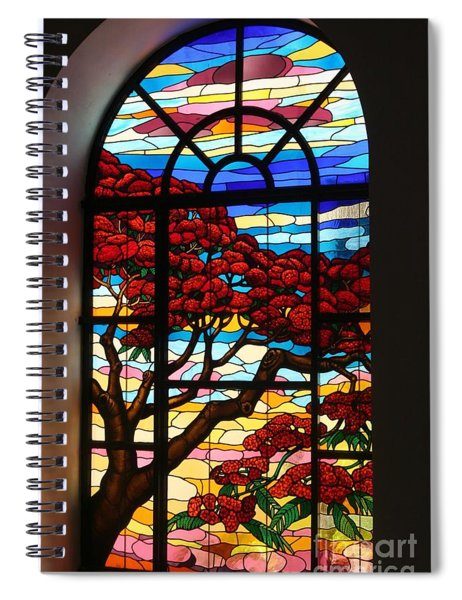 Caribbean Stained Glass  Spiral Notebook