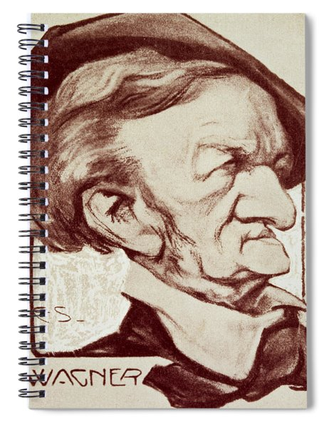 Caricature Of Richard Wagner Spiral Notebook