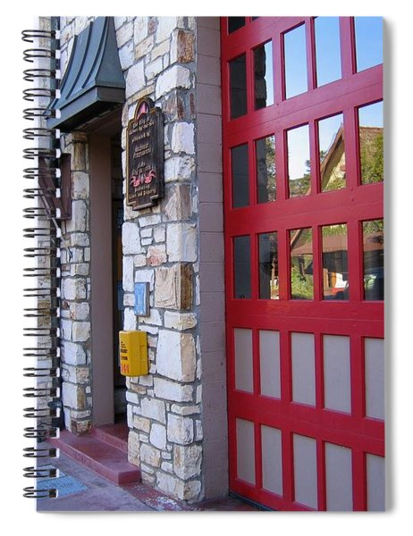 Carmel By The Sea Fire Station Spiral Notebook