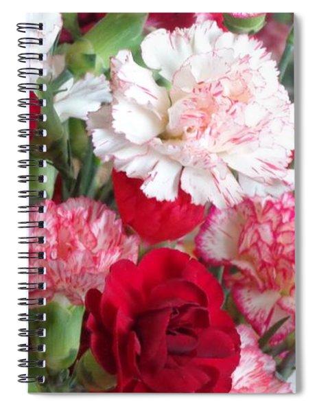 Carnation Cluster Spiral Notebook