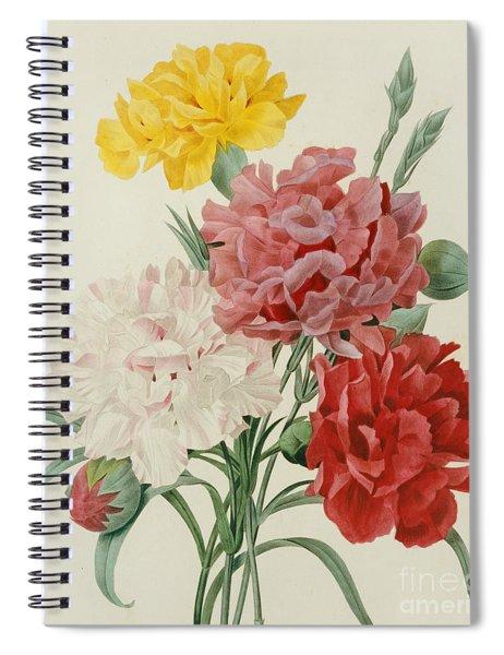 Carnations From Choix Des Plus Belles Fleures Spiral Notebook
