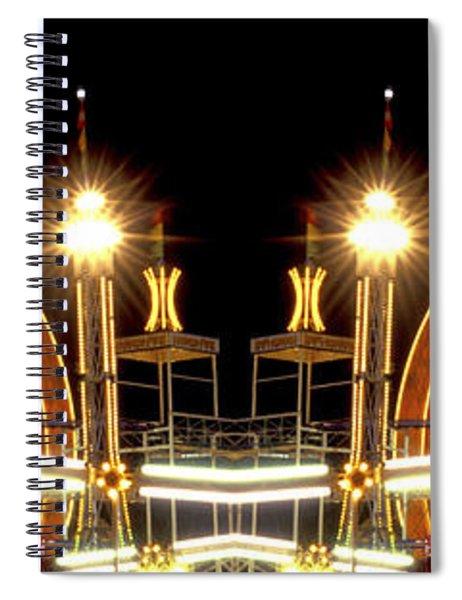 Carnival Light Patterns At Night Spiral Notebook