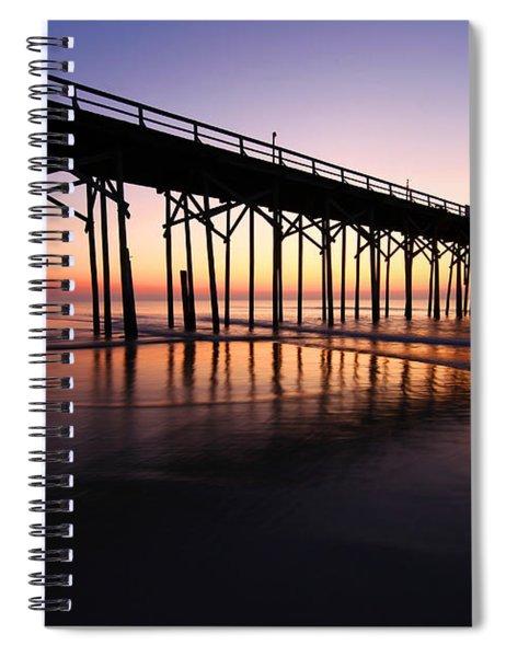 North Carolina Beach Pier - Sunrise Spiral Notebook