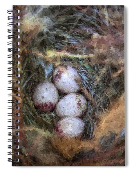 Carolina Wren Nest Spiral Notebook