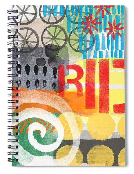 Carousel #6 Ride- Contemporary Abstract Art Spiral Notebook