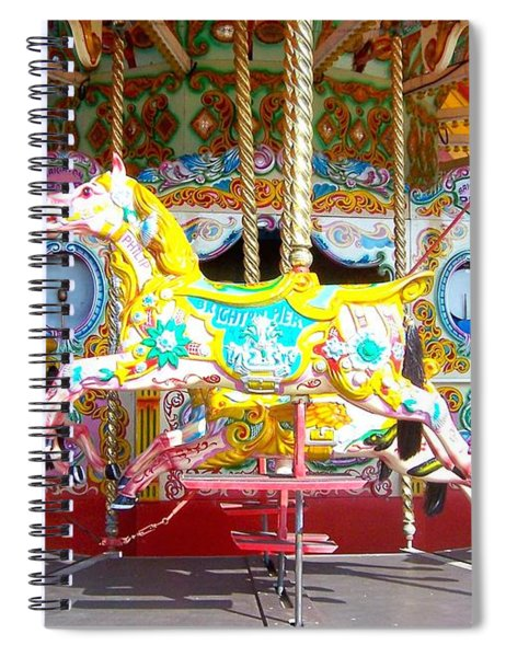 Carousel At The Brighton Pier Spiral Notebook