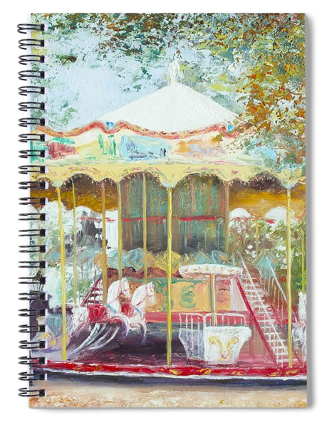 Carousel In Montmartre Paris Spiral Notebook
