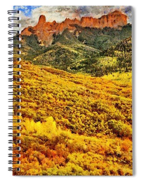 Carpeted In Autumn Splendor Spiral Notebook