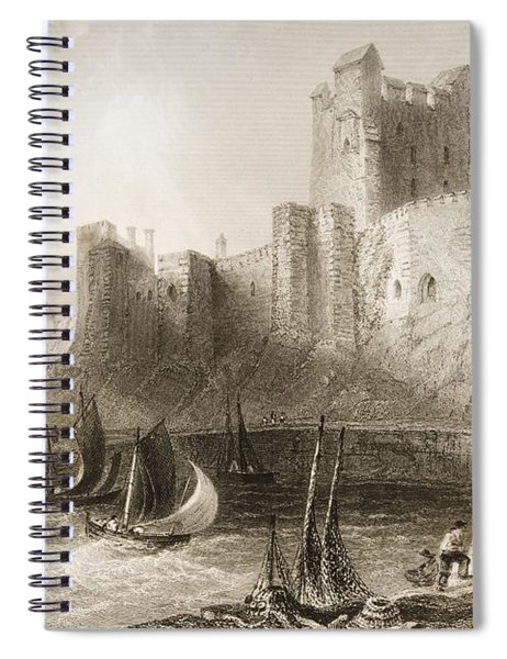 Carrickfergus Castle, County Antrim, Northern Ireland, From Scenery And Antiquities Of Ireland Spiral Notebook