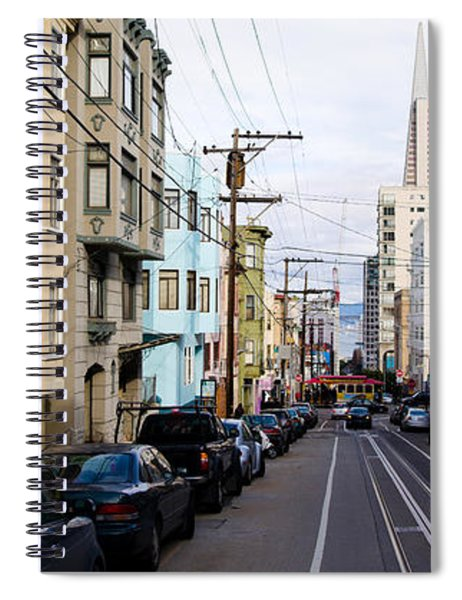 Cars Parked On The Street, Transamerica Spiral Notebook