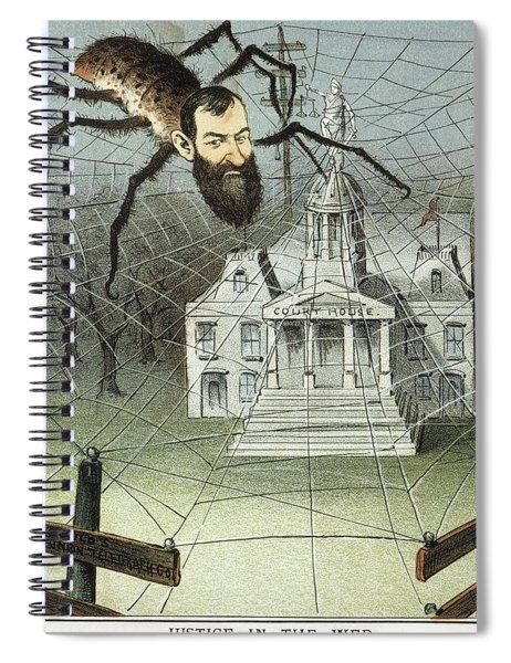Cartoon Jay Gould, 1885 Spiral Notebook
