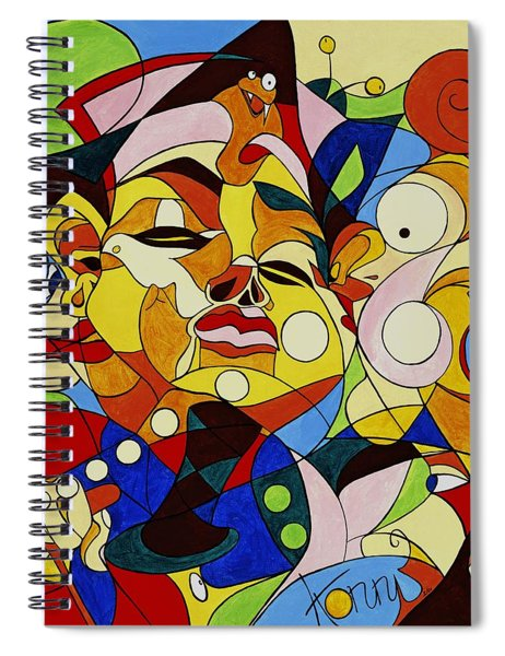 Cartoon Painting With Hidden Pictures Spiral Notebook