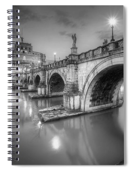 Castel Sant' Angelo Bw Spiral Notebook