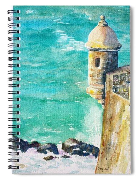 Castillo De San Cristobal Ocean Sentry  Spiral Notebook