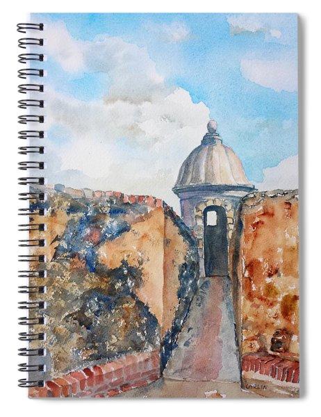 Castillo De San Cristobal Sentry Door Spiral Notebook