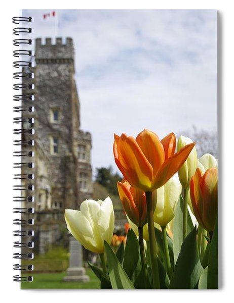 Castle Tulips Spiral Notebook