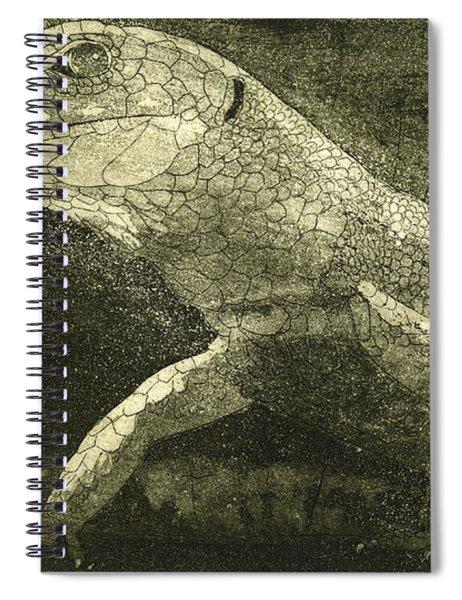 casual meeting Reptile Viviparous Lizard  Lacerta vivipara Spiral Notebook