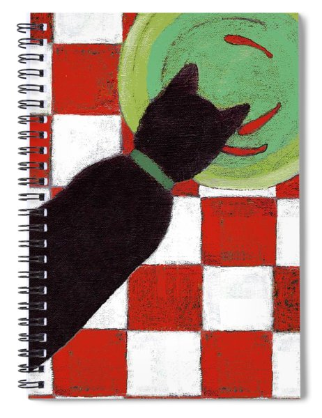 Cat And Goldfish Spiral Notebook