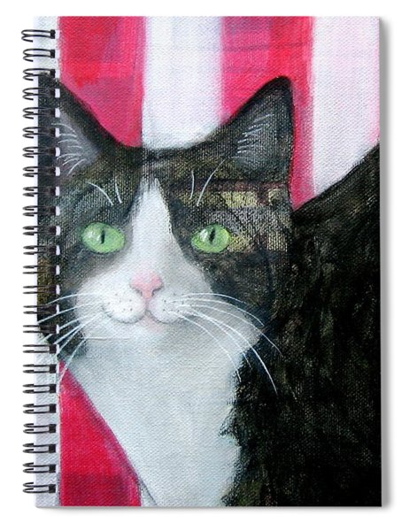 Cat And Stripes  Spiral Notebook