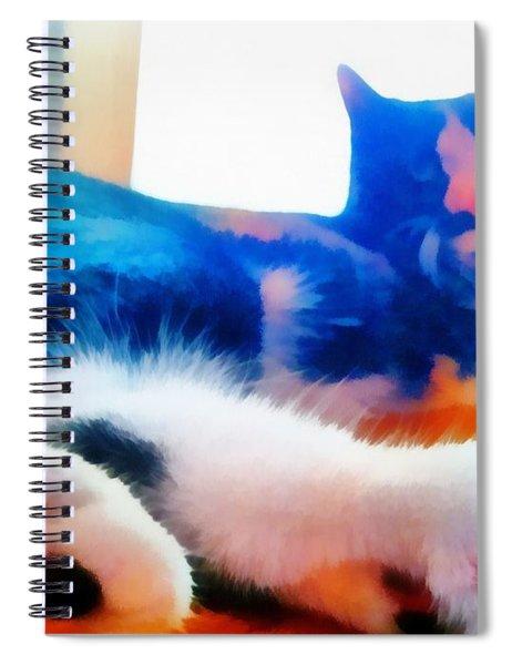 Spiral Notebook featuring the painting Cat Feet by Derek Gedney