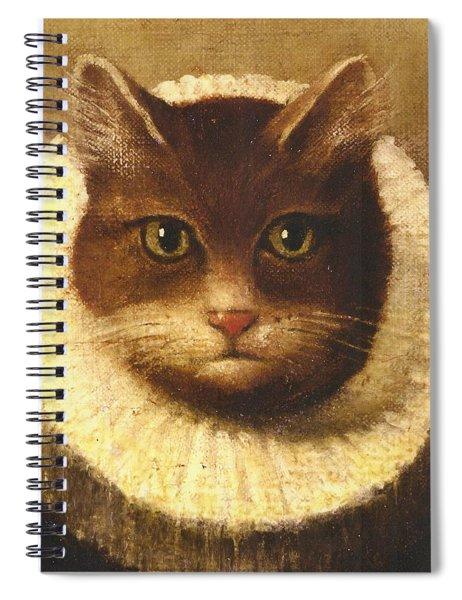 Cat In A Ruff Spiral Notebook
