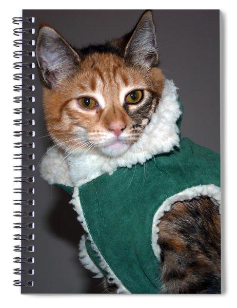 Cat In Patrick's Coat Spiral Notebook