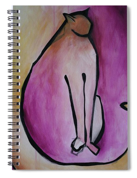 Cat Standing  Spiral Notebook