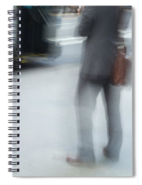 Catching The Bus Spiral Notebook