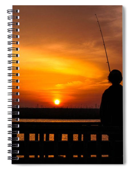 Catching The Sunset Spiral Notebook