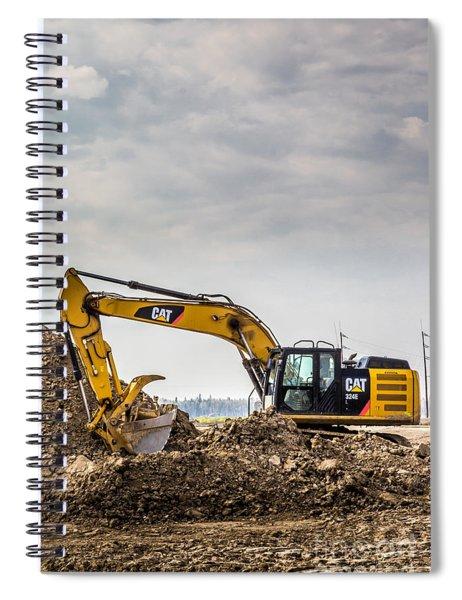 Caterpillar 324e Spiral Notebook