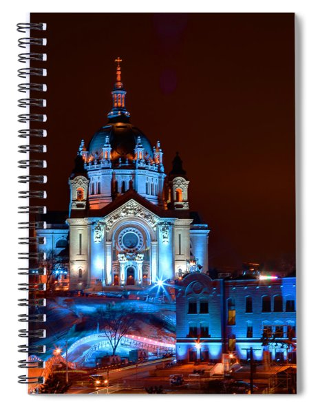 Cathedral Of St Paul All Dressed Up For Red Bull Crashed Ice Spiral Notebook