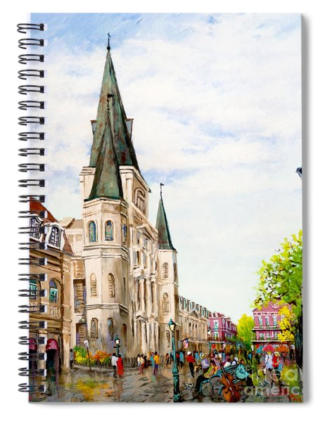 Cathedral Plaza - Jackson Square, French Quarter Spiral Notebook