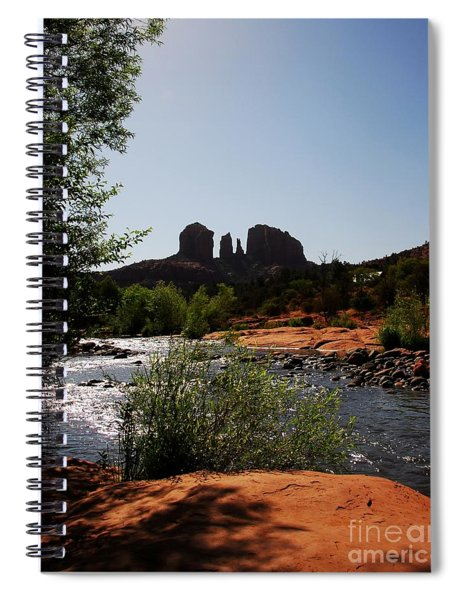 Spiral Notebook featuring the photograph Cathedral Rock by Mel Steinhauer