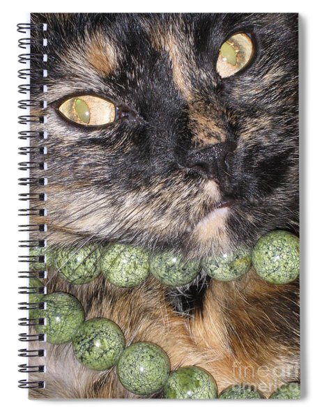 One In A Million... Beauty Of Cat's Eyes. Hello Pearl Collection Spiral Notebook