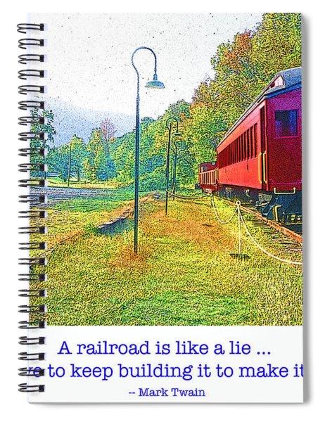 Catskill Mountain Railroad In Autumn Spiral Notebook